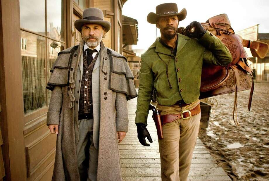 Schultz (Christoph Waltz) and Django (Jamie Foxx) Photo: ANDREW COOPER SMPSP / © 2012 The Weinstein Company