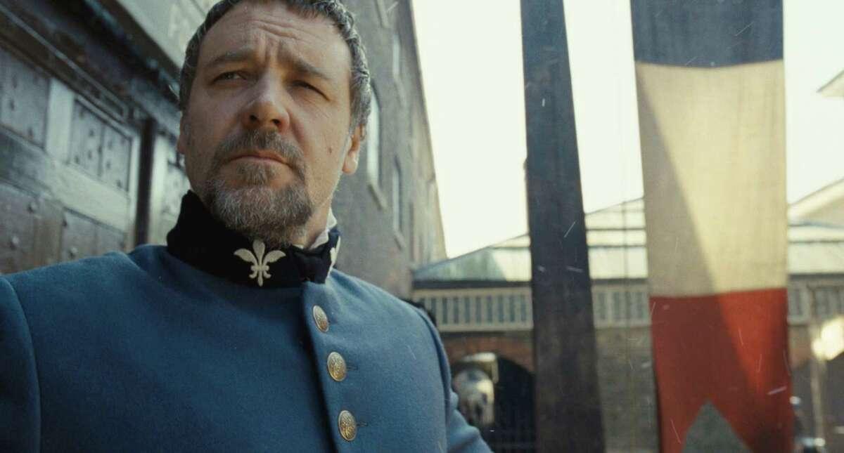 Russell Crowe plays Javert, the nemesis of the hero Valjean in the musical drama