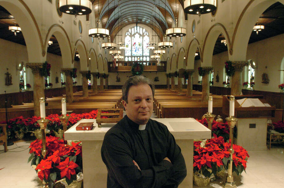 Rev. John Inserra photographed at St. Mary Parish in Greenwich, Conn., Dec. 24, 2012.  Prior to being transferred to St. Mary, Inserra was a priest at Newtown's St. Rose of Lima Catholic Church. Last week he participated in the funerals of six children slain at the Sandy Hook Elementary School in a shooting Friday, Dec. 14. Photo: Keelin Daly / Stamford Advocate Riverbend Stamford, CT