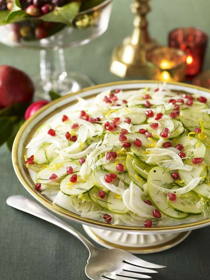Good Housekeeping recipe for Cucumber-Pomegranate Salad. Photo: Kate Mathis