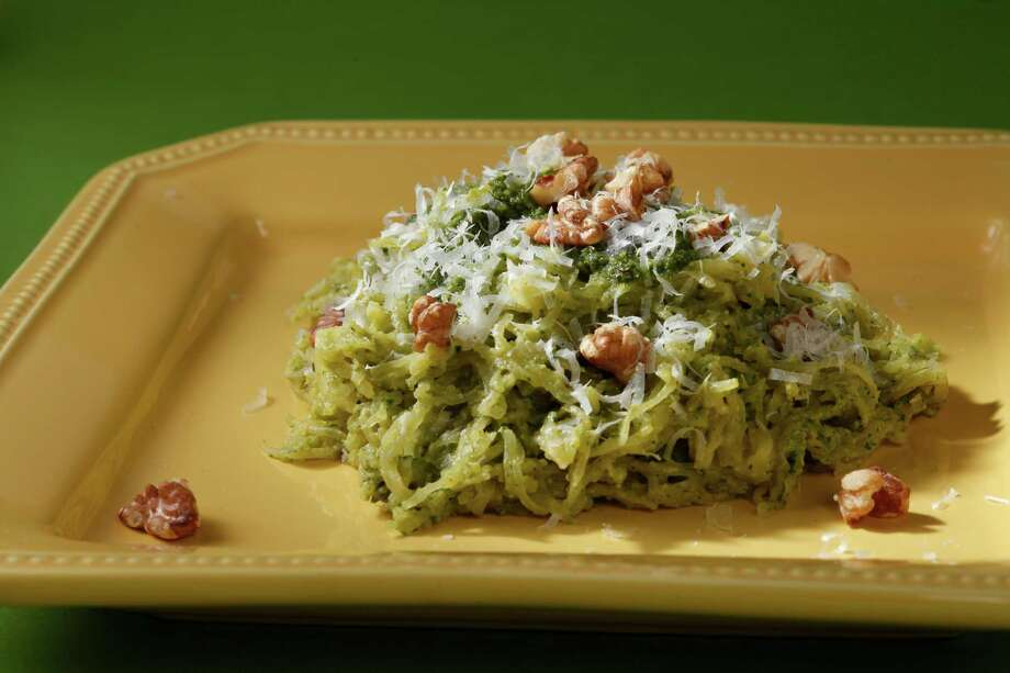 Spaghetti Squash With Walnut-Sage Pesto makes an easy weeknight meal. Photo: Craig Lee, Special To The Chronicle / ONLINE_YES