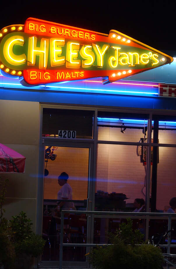 An exterior view of the neon sign at Cheesy Jane's.  Photo: BAHRAM MARK SOBHANI, EXPRESS-NEWS FILE PHOTO / SAN ANTONIO EXPRESS-NEWS