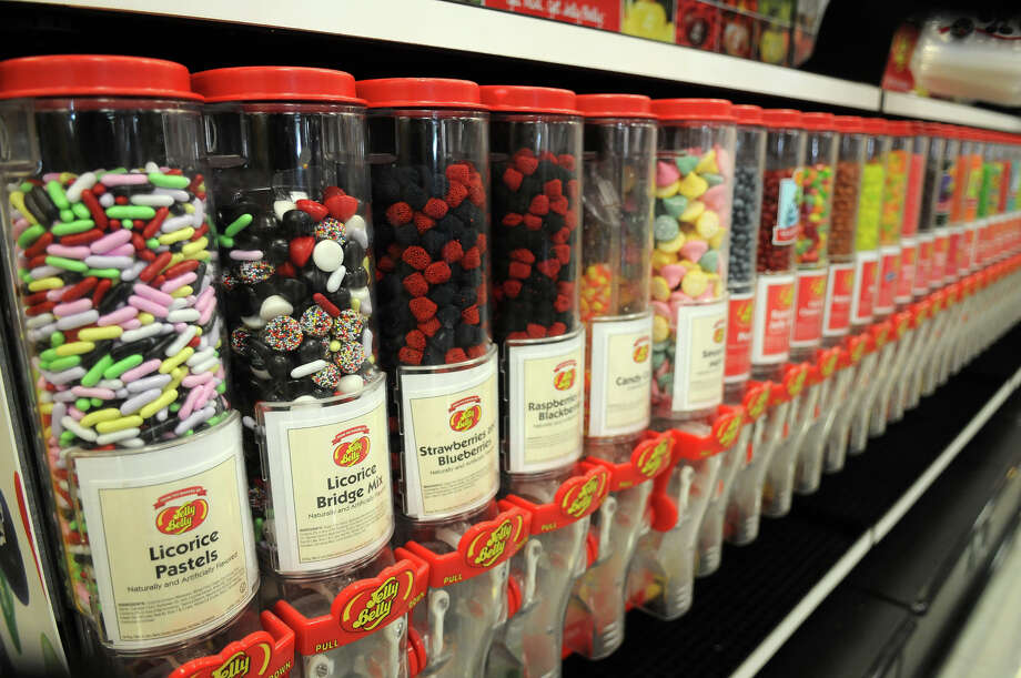 Asorted candies line the shelves in the Sees Candy Shop at the H-E-B  Woodlands Market. Photo: Jerry Baker, For The Chronicle / Freelance