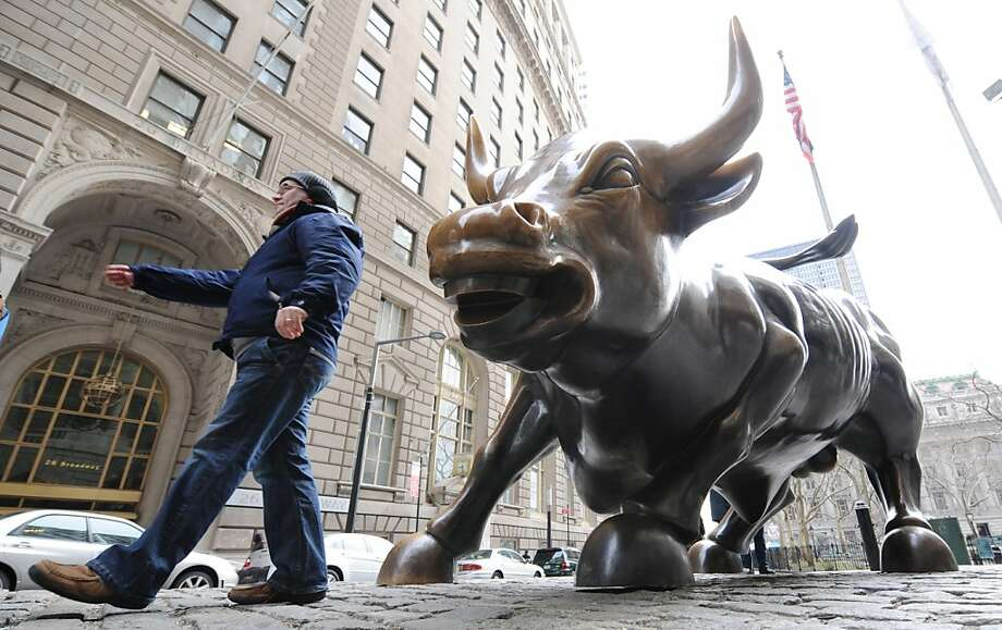 Despite a rally, individuals were found to have cut the amount of assets in stocks to 72 percent from 72.5 percent in 2009. Photo: Henny Ray Abrams, AP