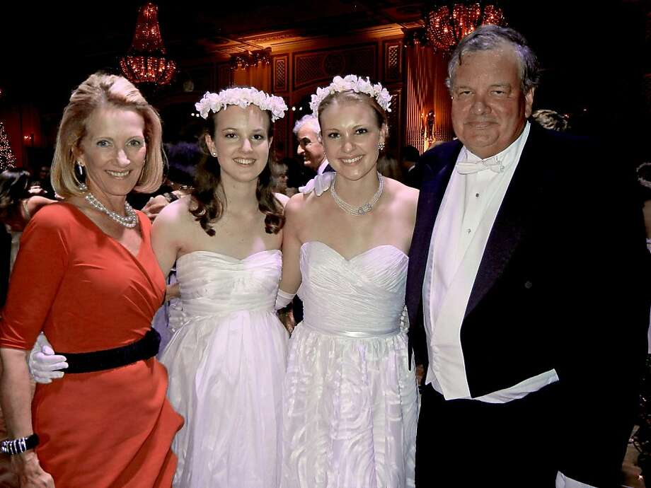 Nicole Dillingham, daughters Caroline and Olivia, husband Gaylord Dillingham. Photo: Catherine Bigelow, Special To The Chronicle