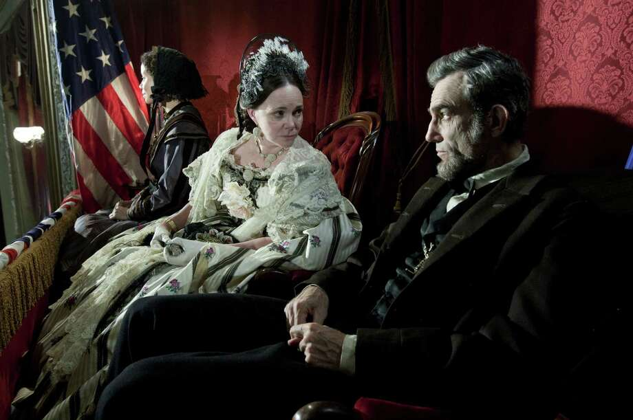 "This image released by DreamWorks II Distribution Co., LLC and Twentieth Century Fox Film Corporation shows Sally Field and Daniel Day-Lewis appear in a scene from ""Lincoln.""  Field was nominated Thursday, Dec. 13, 2012 for a Golden Globe for best supporting actress for her role in the film. The 70th annual Golden Globe Awards will be held on Jan. 13. (AP Photo/DreamWorks II Distribution Co., LLC and Twentieth Century Fox Film Corporation, David James) Photo: David James, Associated Press / DreamWorks II Distribution Co.,"