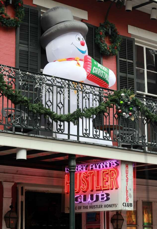 Christmas is everywhere in New Orleans, including in the (ahem) clubs on Bourbon Street.