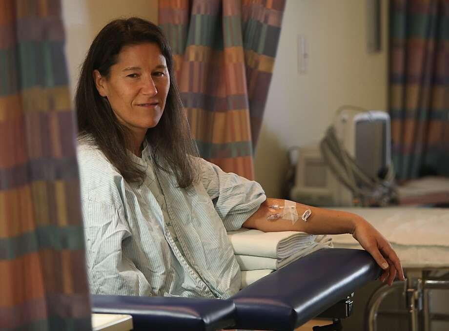 Cheryl Broyles travels from Oregon to San Francisco for treatment of glioblastoma, the most common primary brain tumor. Photo: Liz Hafalia, The Chronicle