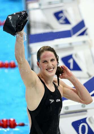 Missy Franklin, just 17, won four gold medals at the London Olympics, and she'll swim at Cal next season. Photo: Paul Gilham, Getty Images