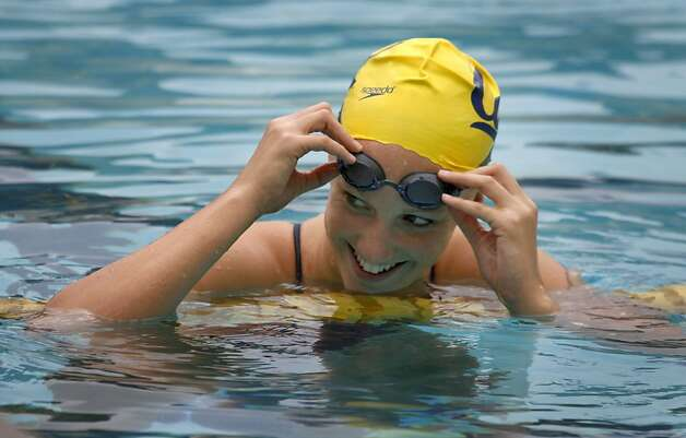 Cal alumnus Dana Vollmer won three gold medals in swimming at the London Olympic Games. Photo: Paul Chinn, The Chronicle