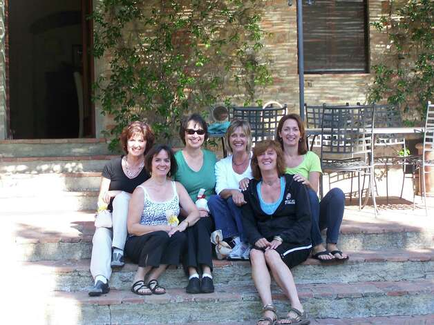 The McCabe sisters in Tuscany, September 2012. From left to right: Maura, Megan, Catherine, Erin, Amy and O'Ine.