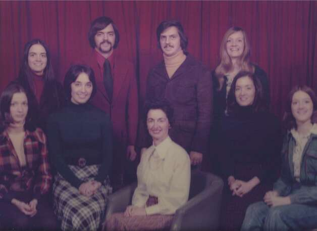 All eight McCabe children in1974 with their mother, Eileen. From left to right: O'Ine, Megan, Catherine, Barry, Eileen, Thomas, Erin, Maura and Amy.
