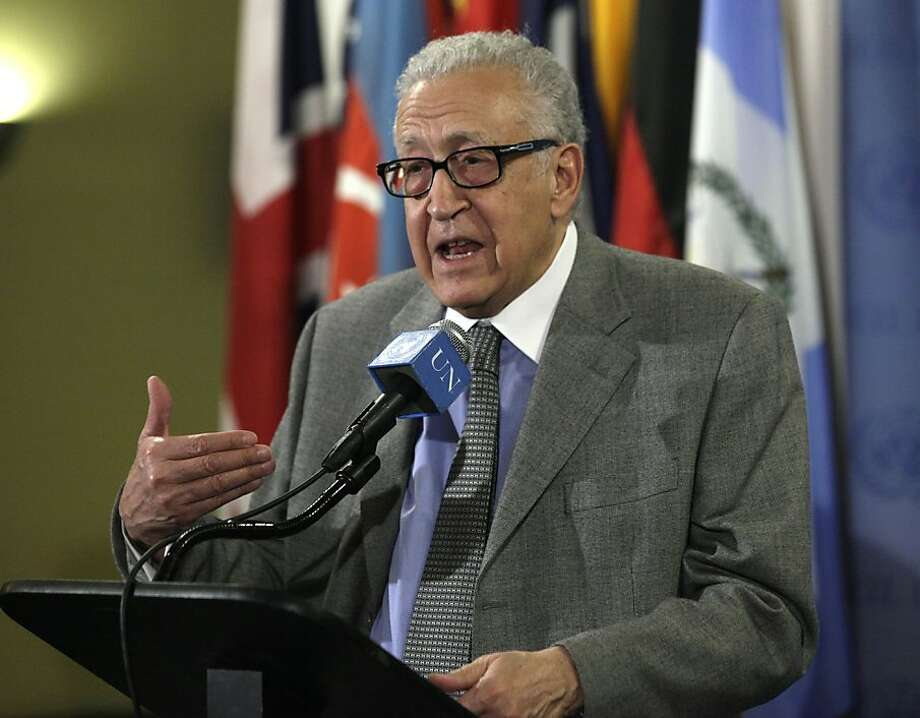 Lakhdar Brahimi, U.N. special envoy to Syria Photo: Richard Drew, Associated Press