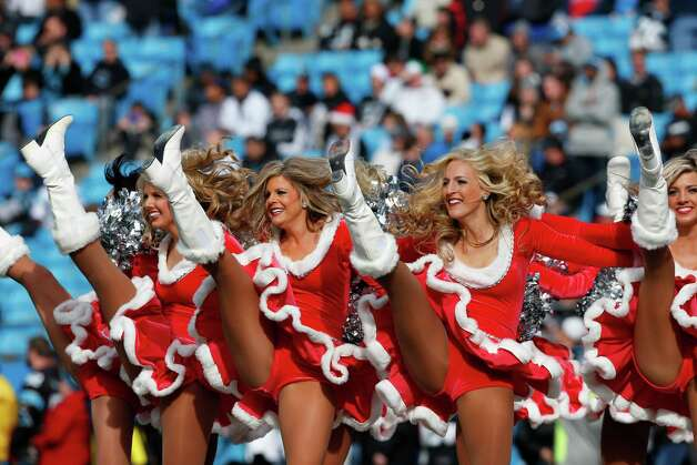 Carolina Panthers cheerleaders perform. Photo: AP