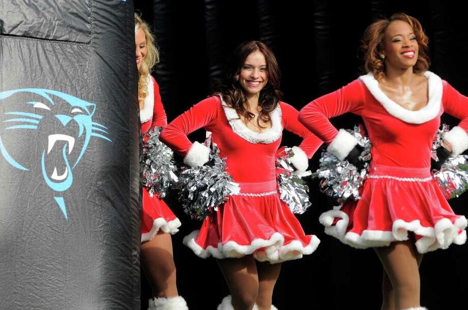 Carolina Panthers cheerleaders perform. Photo: AP