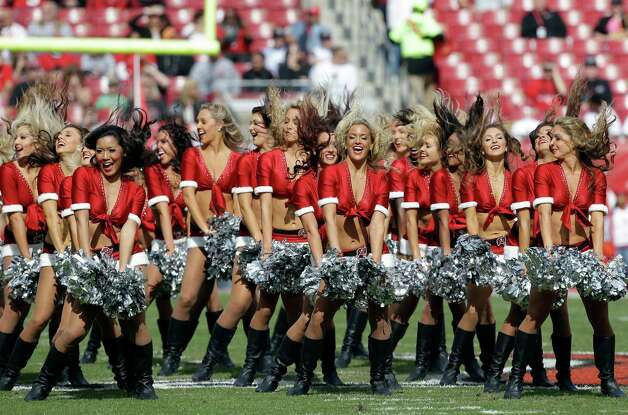 The Tampa Bay Buccaneers cheerleaders. Photo: AP