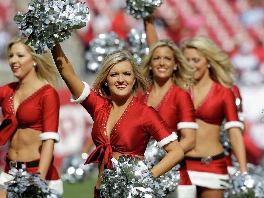 Tampa Bay Buccaneers cheerleaders. Photo: AP