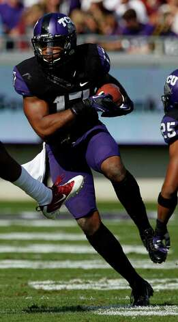 DEFENSEDB: Sam Carter, TCU, 6-1, 220, So., Alief (Hastings) Photo: Tony Gutierrez, Associated Press / AP