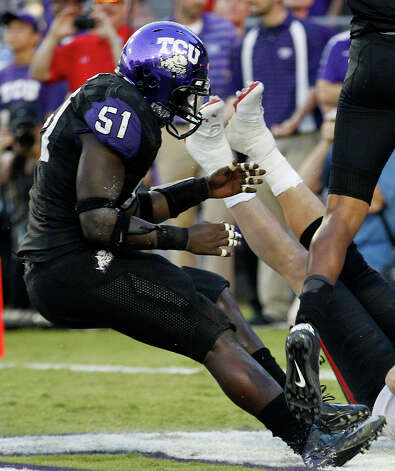 DEFENSELB: Kenny Cain, TCU, 6-1, 225, Sr., Metairie, La. (John Curtis Christian) Photo: LM Otero, Associated Press / AP