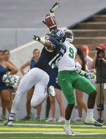 DEFENSEDB: Phillip Gaines, Rice, 6-1, 185, Jr., Converse (Judson)   Seen here breaking up a pass intended for Marshall wide receiver Antavious Wilson. Photo: Smiley N. Pool, Houston Chronicle / © 2012  Houston Chronicle