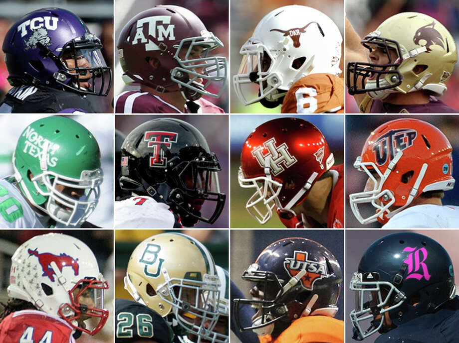 There really is a Lone Star state of mind. And like everything else, Texans like to think their college football is a little bit better than the rest of the country. Express-News college football writer Tim Griffin analyzed the 12 Texas FBS college football programs during the season to put together an all-star team that truly represents all that is good from the state.Note: North Texas center Aaron Fortenberry, a 6-4, 308-pound senior from Era, was named to the Offense. He is not pictured. Photo: San Antonio Express-News , Houston Chronicle, And Associated Press Photos, San Antonio Express-News Photo Illustration
