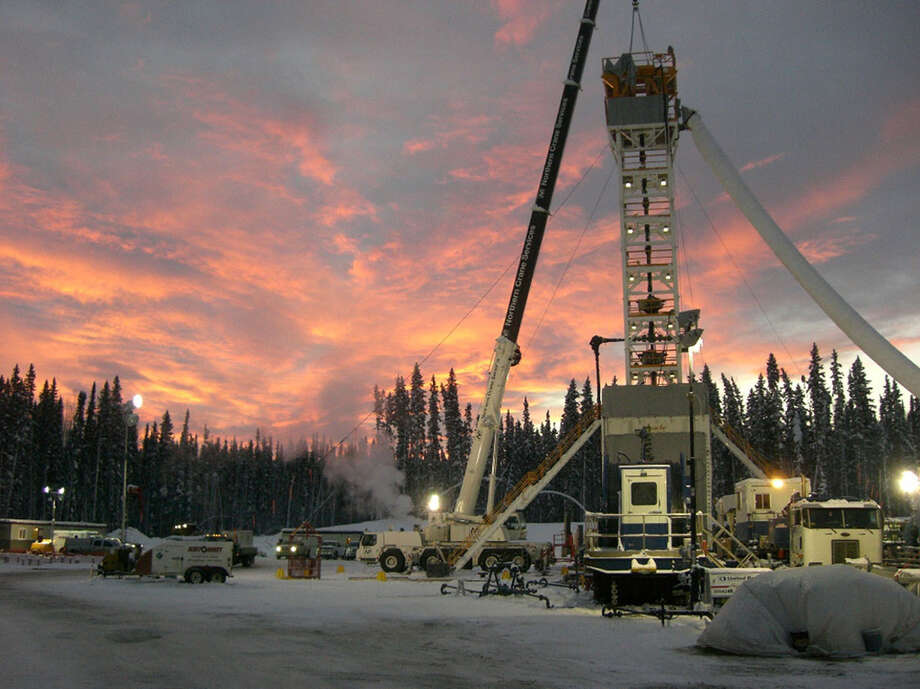 Apache has signed a deal with Chevron to develop shale gas resources in Canada's Horn River and Liard basins, site of this Apache well.