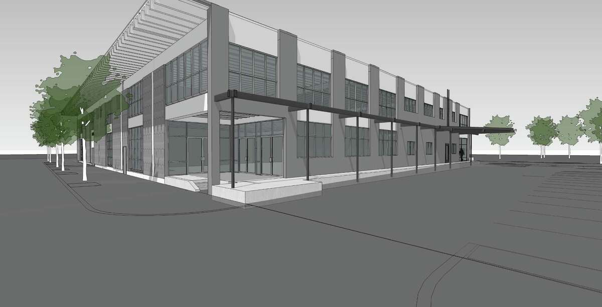 Rendering of a redevelopment at 2808 Caroline that will house the Houston Metropolitan Dance Center.
