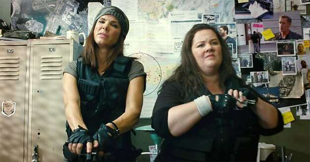 "Sandra Bullock is an FBI agent and Melissa McCarthy is a cop who team up in ""The Heat,"" from Paul Feig (""Bridesmaids""). Photo: 20th Century Fox"