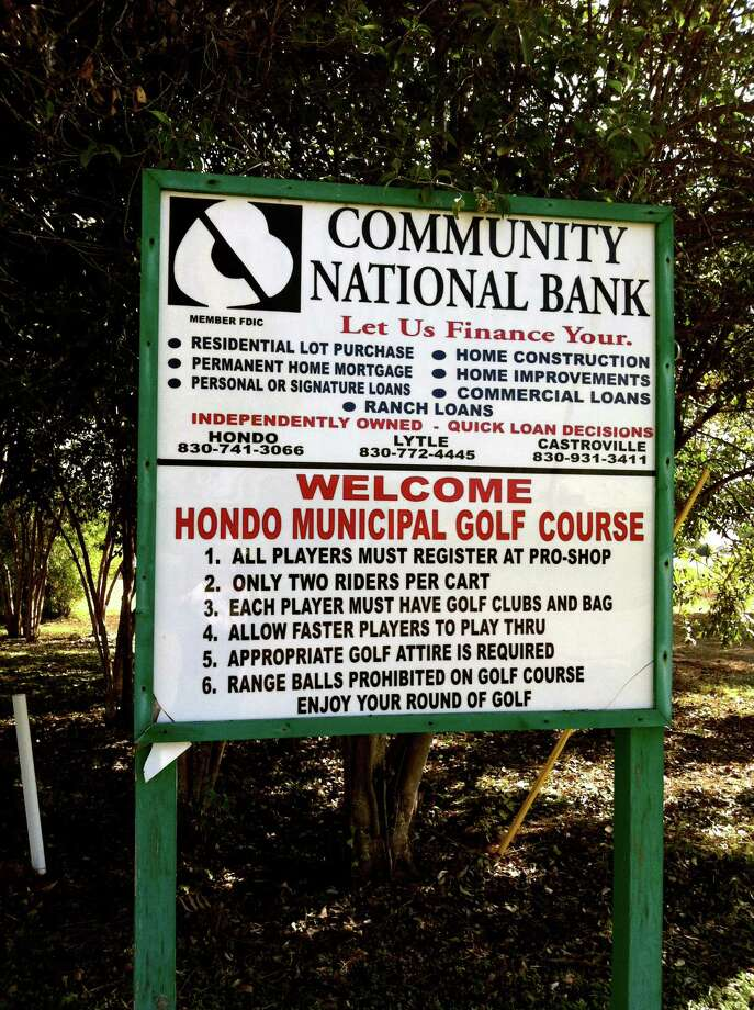 The Hondo Municipal Golf Course is a links-style, small-town nine-hole course that offers a relaxed setting for beginners or those wishing to work on different parts of their game. Photo: LeAnna Kosub, San Antonio Express-News