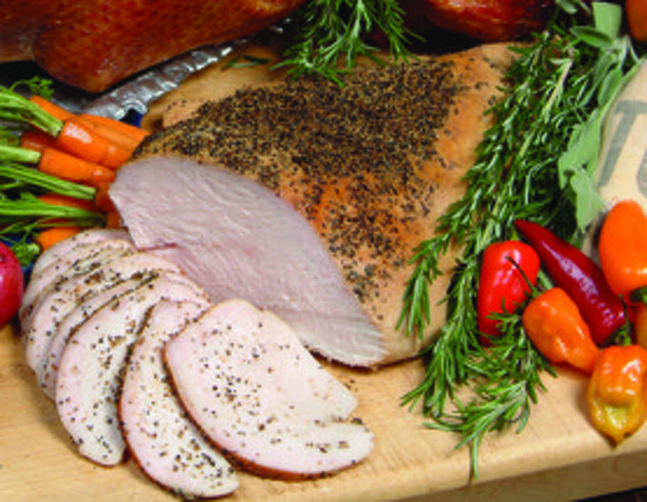 "County Line, 10101 I-10 W., 210-641-1998, is offering turkey breast, $16.19 per pound (average is 4 pounds for 10-12 people). Bread and sides available in large sizes. Fresh harvest cobbler, $55, serves 25-30; bread pudding, $6.99, serves two. ""Emergency Kit,"" with three meats and sides, $11.99 per person. Go to airribs.com or call 800-AIR-RIBS for U.S. delivery. Photo: COURTESY PHOTO"