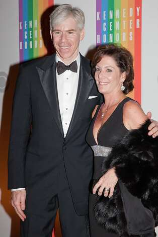David Gregory (L) and Beth Wilkinson arrive at the 35th Kennedy Center Honors, at the Kennedy Center in Washington, DC, December 2, 2012. Photo: Drew Angerer, AFP/Getty Images