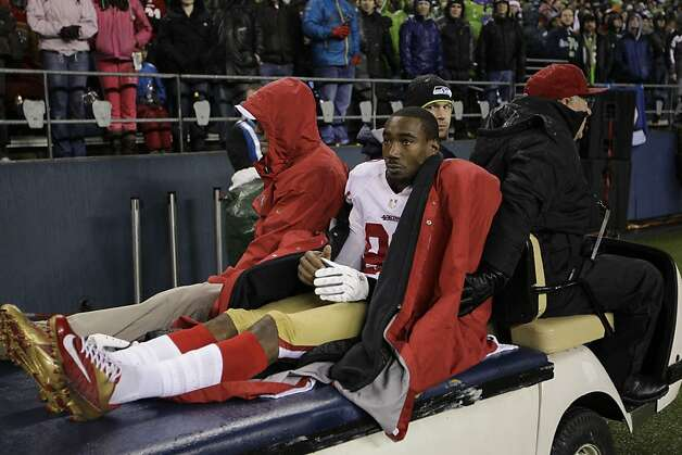 49ers' Manningham finished for season
