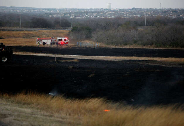 Officials didn't know what caused the blaze, but winds caused it to spread. Photo: Lisa Krantz, San Antonio Express-News / © 2012 San Antonio Express-News