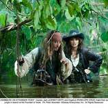 Pirates of the Caribbean: On Stranger Tides (2011): Johnny Depp and Geoffrey Rush in a bad acting contest. Depp won.