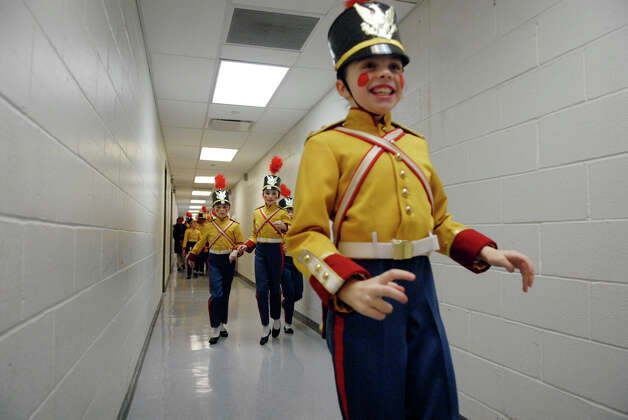 Grayson Kelley, 10, leads a slew of soldiers down the hall as they race to catch an elevator and take the stage in the New York City Ballet's Nutcracker at Lincoln Center in New York, NY, Dec. 20, 2012. Photo: Keelin Daly / Stamford Advocate Riverbend Stamford, CT