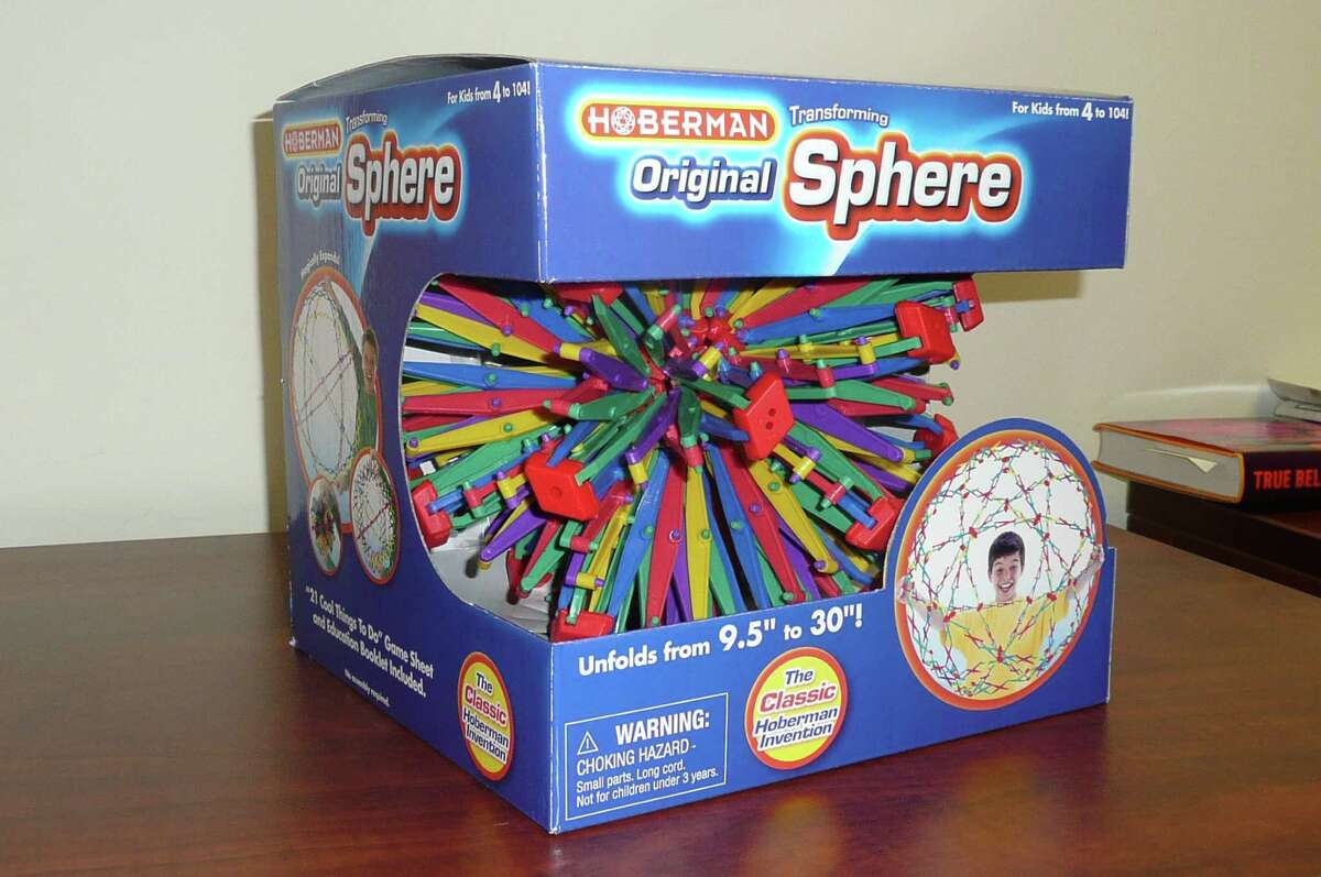 The Hoberman Sphere, created by Greenwich resident Chuck Hoberman, has the ability to expand and contract from a ball of nine inches-plus to a 30-inch sphere - and back again. The, now 20 years old, continues to fascinate kids