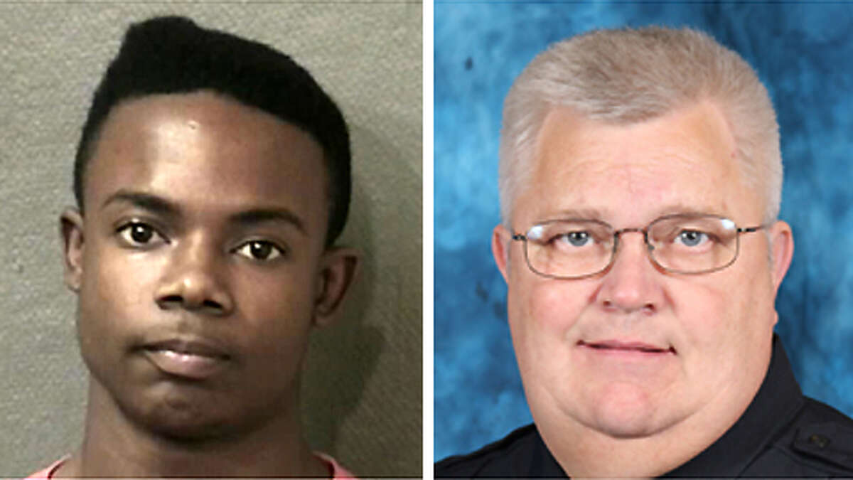 Harlem Harold Lewis, left, Cpl. Jimmie Norman, Bellaire PD, right