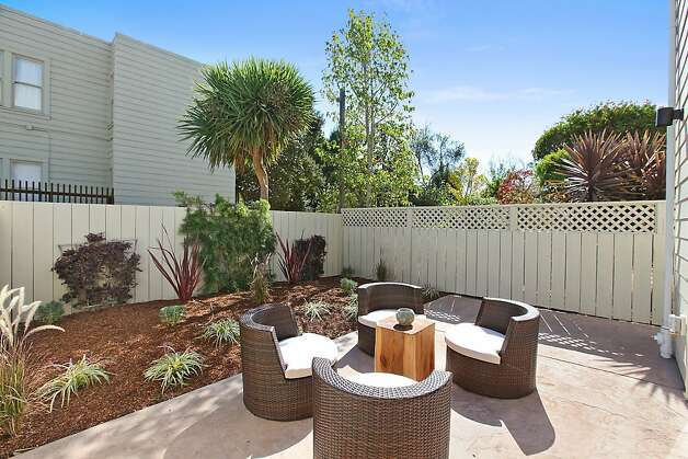 The backyard is plumbed and has infrastructure for natural gas. Photo: OpenHomesPhotography.com