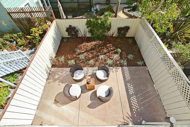 An aerial view of the backyard. Photo: OpenHomesPhotography.com