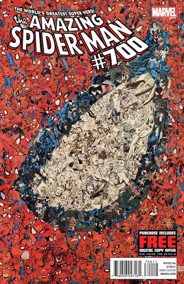 "This undated photo provided by Marvel Comics shows the cover of the 700th and final issue in the comic book series ""The Amazing Spider-Man,"" issued Wednesday, Dec. 26, 2012. The series ends as Peter Parker meets his doom. But Spider Man's adventures will continue with the debut of ""Superior Spider-Man"" in January 2013. (AP Photo/Marvel Comics) Photo: Uncredited"