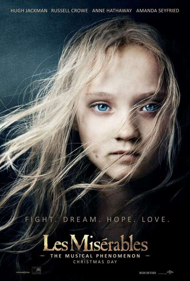 "The official movie poster for ""Les Miserables"""