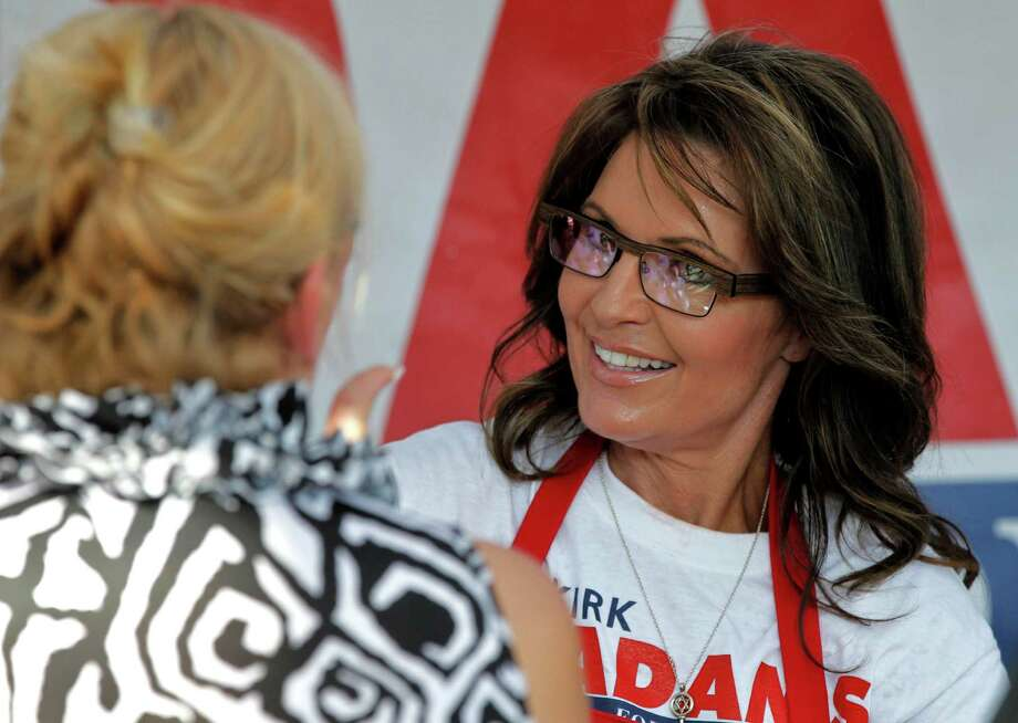 Former Alaska Gov. and Republican vice presidential candidate Sarah Palin hit an offensive sour note when she questioned President Obama's manhood. Photo: Matt York, Associated Press / AP