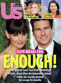 The year saw its share of Hollywood marriages that went belly up (Jennifer Lopez and Marc Anthony) and high-profile hook-ups that went kaput (Justin Bieber and Selena Gomez) and new unions with forever potential (Jennifer Aniston and Justin Theroux). But the biggest breakup news was Katie Holmes' blindsiding Tom Cruise to escape from ... well ... Cruise control and his Church of Scientology. Photo: HOEP / US Weekly