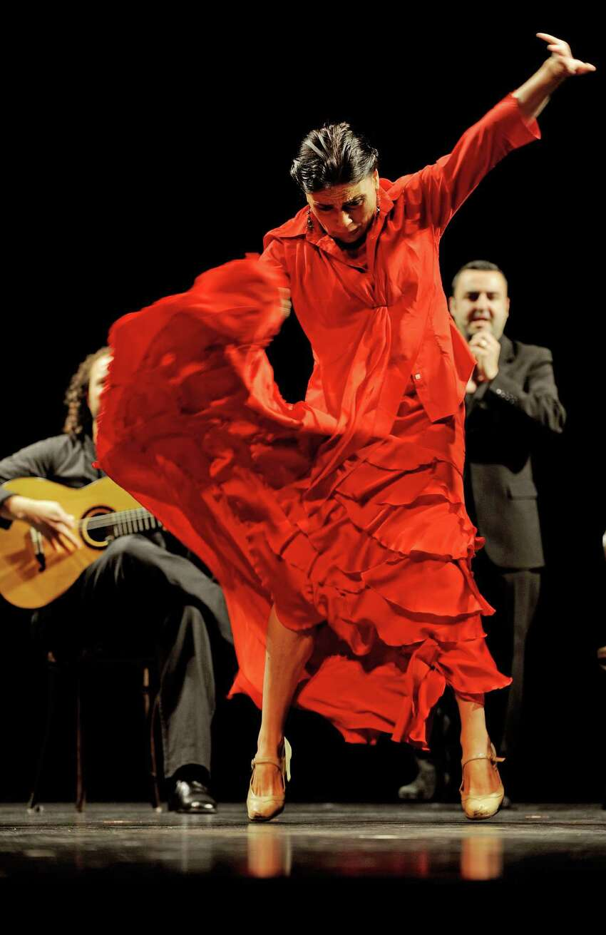 Dancer Soledad Barrio rehearses with the Madrid-based flamenco dance company 'Noche Flamenca' in Sydney on June 23, 2009. Fresh from a critically acclaimed US tour, Noche Flamenca appears in Australia for the first time in eight years, giving audiences a rare chance to experience the beauty and intensity of flamenco in its purest form. AFP PHOTO / Greg WOOD (Photo credit should read GREG WOOD/AFP/Getty Images)