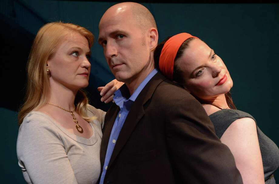 Celia Schaefer, Timothy Deenihan and Danielle Skraastad in Stageworks/Hudson's production of Tomorrow In The Battle, Aug 15-Sept 2, 2012. (Photo: Rob Shannon)