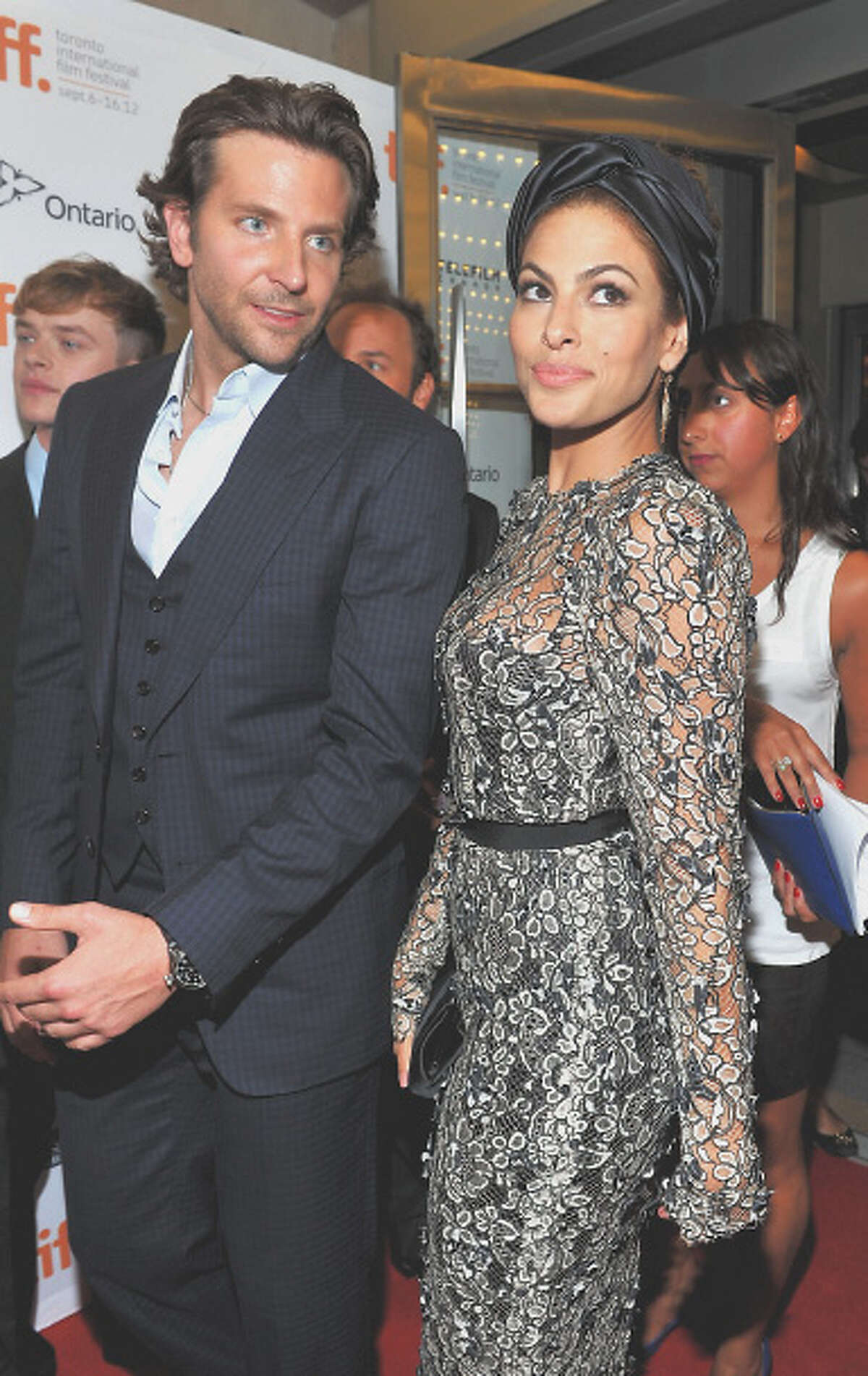 Actors Bradley Cooper and Eva Mendes attend