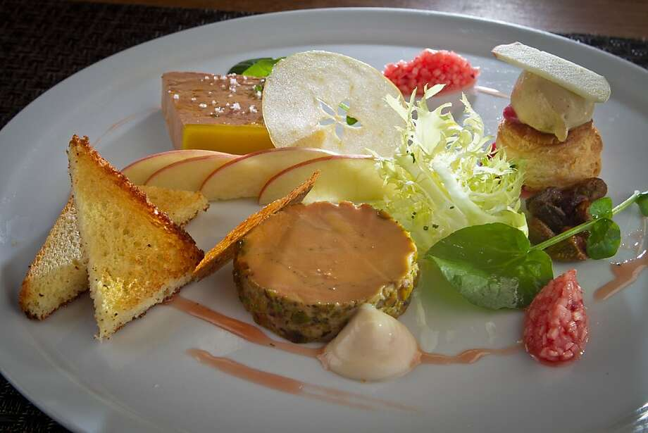 Foie gras dishes like the one at Redd are off menus now that selling foie gras is illegal in California. Photo: John Storey