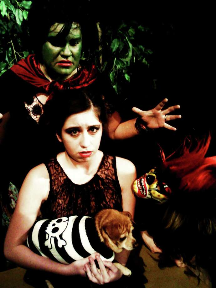 """""""Darkside of the Rainbow,"""" which featured Jessie Rose (from top), Mikaela Perillo-Rosas and Holly Shilitto this year, will be reprised in 2013 at the Rose Theatre Company.  Photo: Courtesy, Rose Theatre Company"""