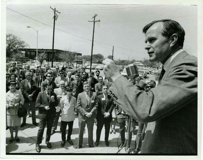 04/02/1970 - U.S. Rep. George Bush, Republican candidate for the U.S. Senate, opens his Harris Count