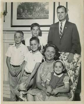 06/08/1964 - U.S. Senate candidate George Bush with three of his sons, from left, Neil, Jeb and Marvin (seated); his wife, Barbara, and daughter, Dorothy. Bush's eldest son George is not in the photo. Dave Farmer / Houston Post Photo: Dave Farmer, Houston Chronicle / Houston Post files